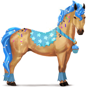 cheval divin cupcake